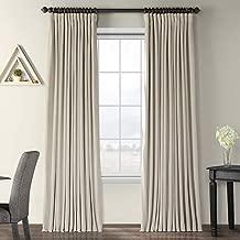 Half Price Drapes VPCH-VET160405-108 Signature Doublewide Blackout Velvet Curtain,Cool Beige,100 X 108