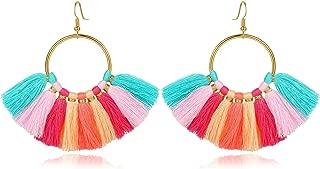 Best multicolor fringe earrings Reviews