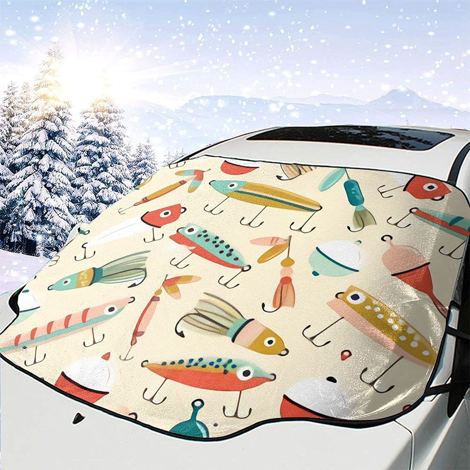 Al Max 65% OFF sold out. Car Front Windshield Cover Fishing Windshie Lures Automotive Art