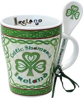 Celtic Collection Mug & Spoon Set Celtic Shamrock Design