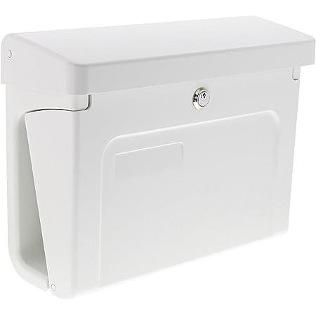 Kiel 886 Si EU Norm EN 13724 A4 Einwurf-Format BURG-W/ÄCHTER Kunststoff-Briefkasten mit integriertem Zeitungsfach Silber