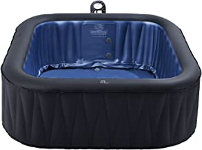 Modern-Depo M-spa 6-Person Tekapo Inflatable Hot Tub | Outdoor Portable Jacuzzi Tub Jets Bubble Massage Pool Square (73 x 73 x 27 inches)