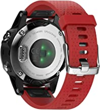 ANCOOL Compatible with Fenix 5S Bands Easy Fit 20mm Silicone Watch Bands Replacement for Fenix 6S/Fenix 6S Pro/Fenix 5S Plus Smartwatches, Red
