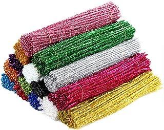 Limpadores de cachimbo de Natal Amosfun com hastes coloridas de chenille enfeites de árvore de Natal para projetos de arte...