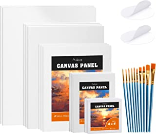 $20 » Sponsored Ad - Canvas Board for Painting Multi Pack, 8x10, 11x14, 4x4, 5x7, 9x12 Inches, 14 Pack, 100% Cotton, Blank Canva...