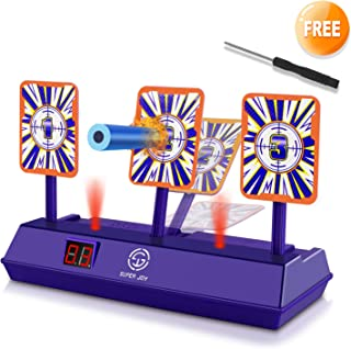 AOKESI (2019 Rival Series) Electric Shooting Digital Target for Nerf Guns,Scoring Auto Reset for Nerf Guns Blaster with Wonderful Light and Sound Effect, Perfect for N-Strike Elite/Mega