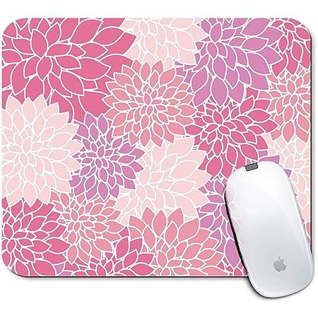 Neoprene Mousepad with pink flowers print