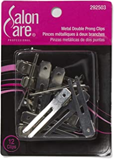 double prong curl clips