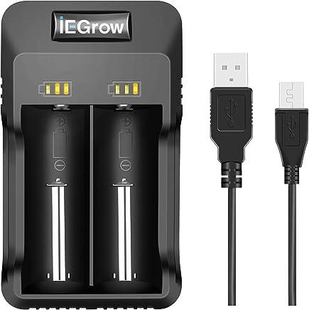 SODIAL Cargador De Bateria Recargable De 1 Ranura Li-Ion USB Cargador Rapido Inteligente De Uunico Ranura para 18350 18500 18650 Bateria AAA Li-Ion Bateria