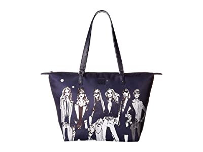 Lipault Paris Izak Zenou Medium Tote Bag (Pose/Night Blue) Tote Handbags