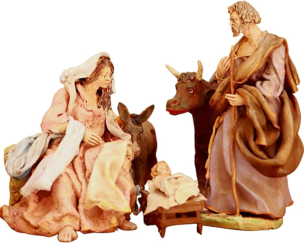 Gaspare patti ,presepe che rappresenta la nativita` in ceramica artistica. OR5
