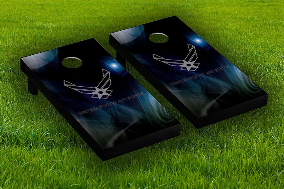 US Air Force Cornhole Board Wraps Laminated Sticker Set Skin Decal