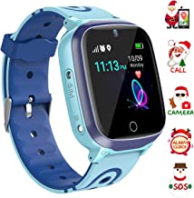YENISEY Kids Smart Watch Waterproof for Boys Girls - WiFi+GPS Tracker Smartwatches IP67 Waterproof Fitness Tracker with SOS Camera Anti-Lost Games Touch Screen Electronic Toy for Android/iOS