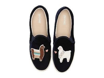 Soludos Velvet Llamas In Love Sneaker (Navy) Women