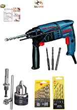 Bosch GBH 200 Professional Rotary Hammer With Hammer Bits & Chuck Adapter for Drilling on Wood,Metal By Tools Centre
