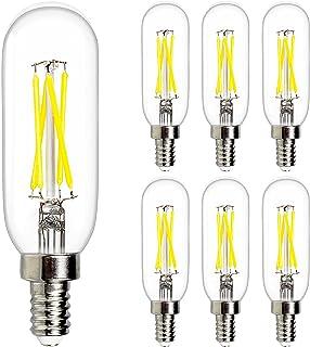 E12 Dimmable LED Bulbs UL Listed, T6 Edison Bulb 4W Equal 40W Led Candelabra Bulb 2700K Warm White 400lm 4W , Clear Vintag...