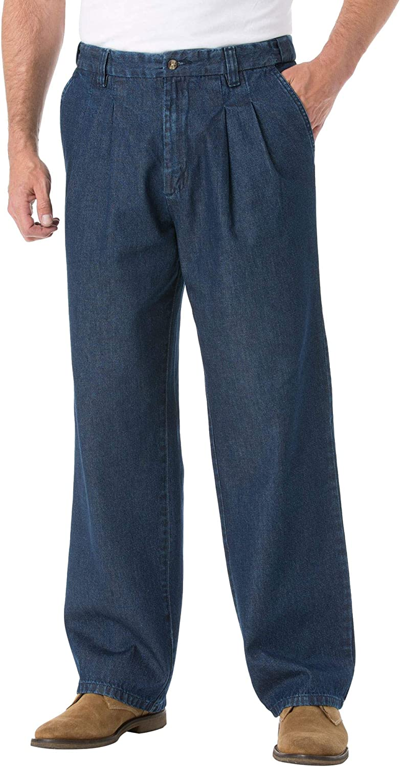 KingSize Men's Topics on TV Big Tall Relaxed Max 59% OFF Fit Waist Pleat-Front Comfort