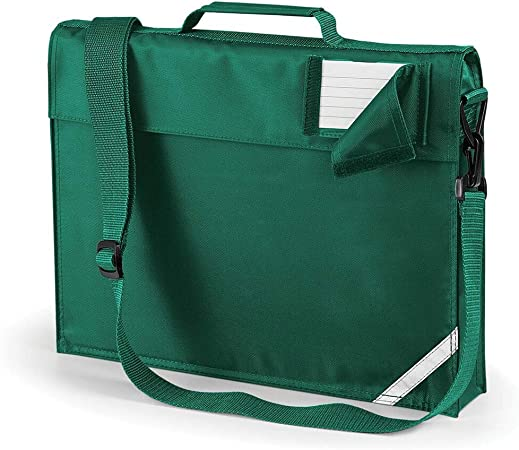 JUNIOR BOOK BAG SCHOOL BAG WITH STRAP - 5 COLOURS (BOTTLE GREEN) :  Amazon.co.uk: Luggage