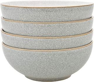 Denby Elements Light Grey 4 Piece Cereal Bowl Set