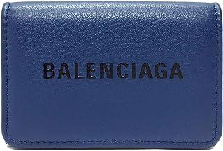 [バレンシアガ] BALENCIAGA 財布 エブリデイ ミニウォレット メンズ レディース 三つ折財布 551921 DLQ4N 4170 レザー PEACOCK ブルー [並行輸入品]