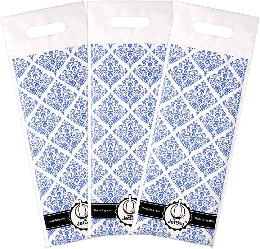 Jet Bag BLUE GIFT The Original ABSORBENT Reusable Protective Bottle Bags Set Of 3 MADE IN THE USA