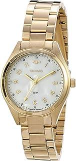 Relógio Technos, Pulseira de Aço Inoxidável, Feminino Dourado 2036MLWS/4B