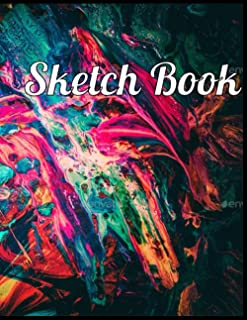 Sketch Book:Abstract Art 2021 Cover Blank Pages For Writing Drawing Book- Large Sketch Book: 8.5x 11 Inchs, 110 Pages Abst...