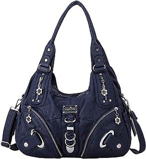 Handbag Hobo Women Bag Roomy Multiple Pockets Street ladies' Shoulder Bag Fashion PU Tote Satchel Bag for Women