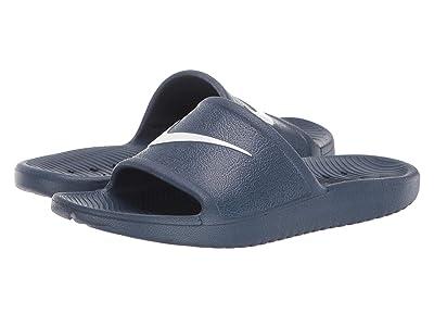 Nike Kids Kawa Shower Slide (Little Kid/Big Kid) (Navy/White) Boys Shoes