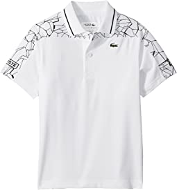 Short Sleeve Shoulders Print Djoko Polo (Little Kids/Big Kids)
