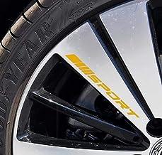 4PCS Sport Reflect Light Car Decal Sticker Wheels Rims Racing Car Sticker Emblem Logo Car Door Rims Wheel Hub Decal Auto A...