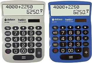 Teledex DTXDD2362 2-Line TrackBack Large Desktop Calculator