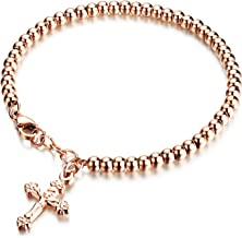 Ablaze Jin jewelry temperament cross rose gold ladies bracelet exquisite wild simple wristband
