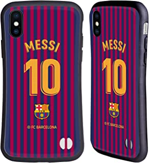 Official FC Barcelona Lionel Messi 2018/19 Players Home Kit Group 1 Hybrid Case Compatible for iPhone X/iPhone Xs