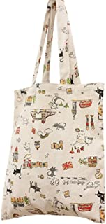 Flowertree Women's Cute Animal Print Canvas Tote Bag
