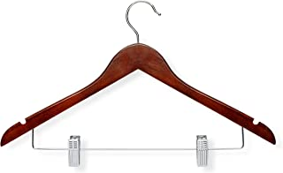 Honey-Can-Do HNG-01210 Basic Suit Hanger with Clips, 3-Pack, Cherry