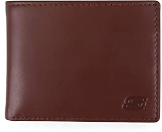 Mens Passcase RFID Leather Wallet With Flip Pocket