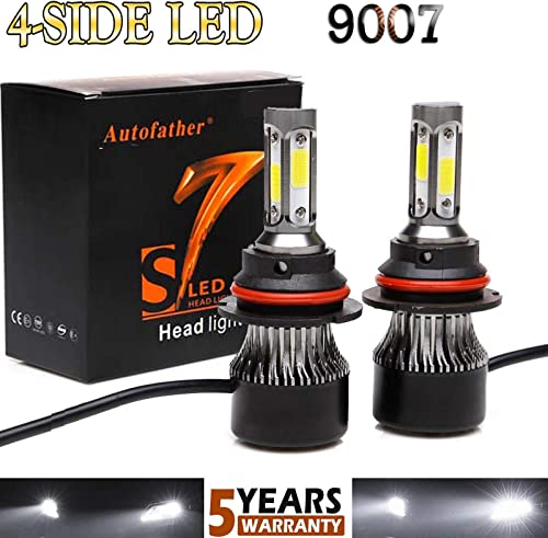 2021 9007 HB5 LED Headlight Bulbs Conversion outlet sale Kit 16000LM Super outlet online sale Bright High Low Beam 360 Degree(4 Sides) Car Light Replacement 6000K White outlet online sale