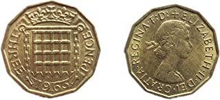 Stampbank Coins for Collectors - Uncirculated British 1961 Three Pence / Threepenny Bit Coin / Great Britain
