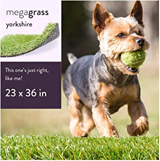 MEGAGRASS Pet Turf for Extra Small, Small, and XXL Dogs – Indoor and Outdoor Artificial Grass Patch and Synthetic Puppy Potty Pee Pads
