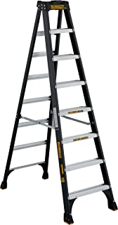 DeWalt DXL3010-08 8-Feet Fiberglass Stepladder Type IA with 300-Pound Duty Rating, 8-Feet, Color may vary