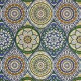Dekostoff Mandala royalblau Canvasstoffe Dekorationen