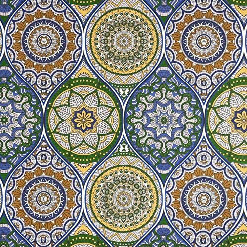 Dekostoff Mandala royalblau Canvasstoffe Dekorationen Ornamente - Preis gilt für 0,5 Meter