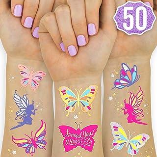 xo، Fetti Butterfly Tattoos for Children - 50 سبک های براق | وسایل جشن تولد ، طرفداران پروانه + دکوراسیون پری