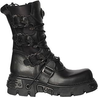 New Rock 391 S18 Unisexe Métallique Noir Classic Leather Biker Gothic Boot Toute la Taille