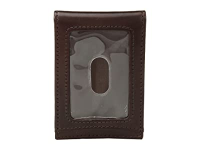 Johnston & Murphy Two Fold Money Clip (Brown Smooth Leather) Bi-fold Wallet