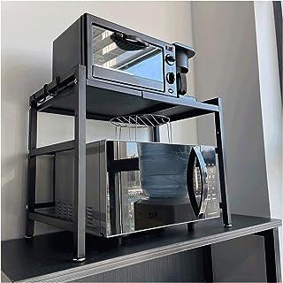 Micro-Ondes Rack Support Tlescopique Multifonction Présentoirs De Boulangerie Rangement pour Mini-Four Extensible Organisa...