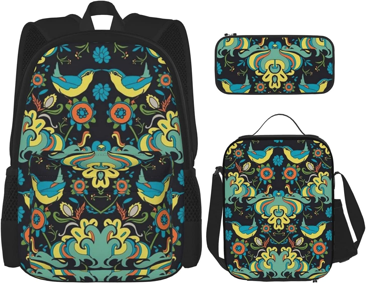 Backpack Bags Birds Garden On Washington Mall Black Lunch Pencil Bag low-pricing with Ca