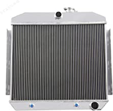 STAYCOO 3 Row Full Aluminum Radiator for 1955-1957 Chevy Bel Air/Del Ray/Nomad 150 210 6Cyl