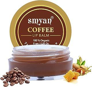Smyan Coffee Lip Balm - Organic Lip Balm For Dry / Chapped Lips | Dark Lips To Lighten With Honey, Shea Butter, Cocoa Butt...